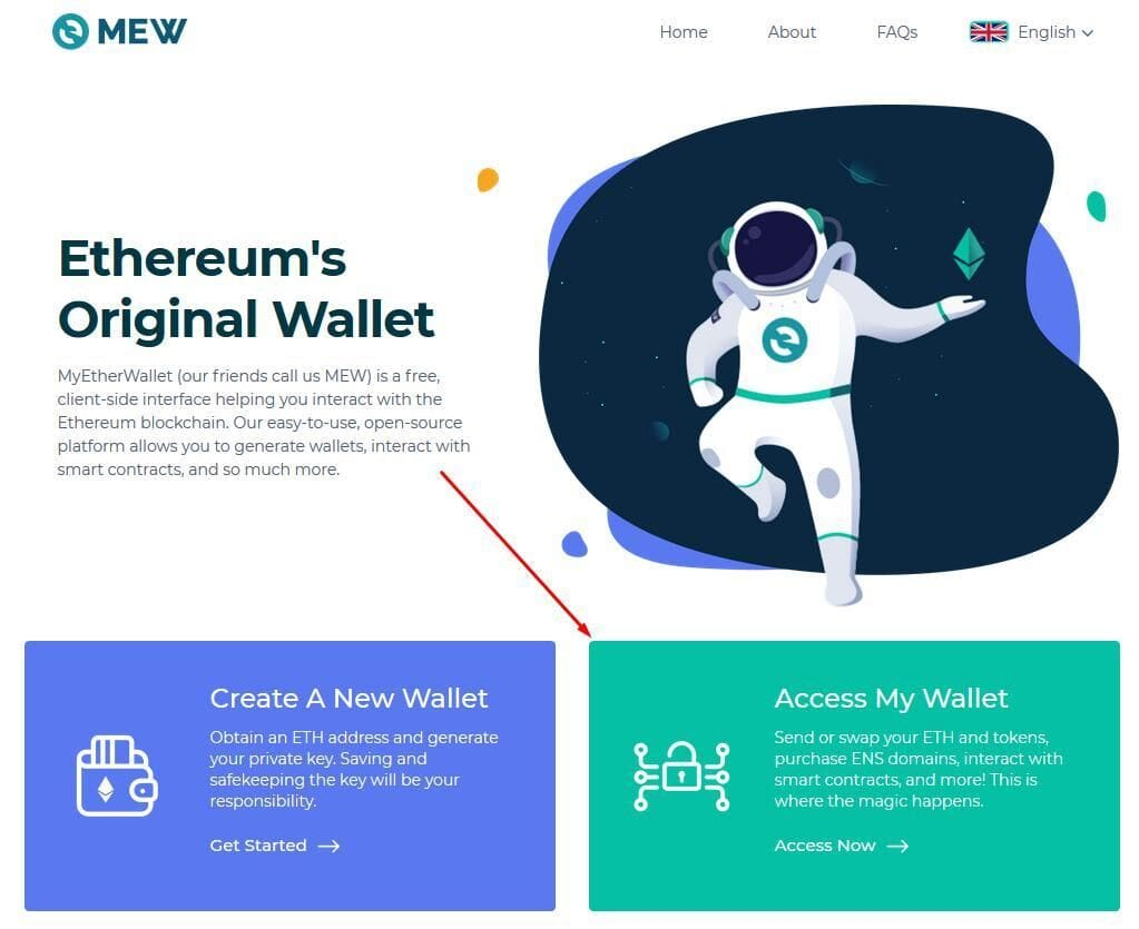 MEW step 17 - enter your Wallet